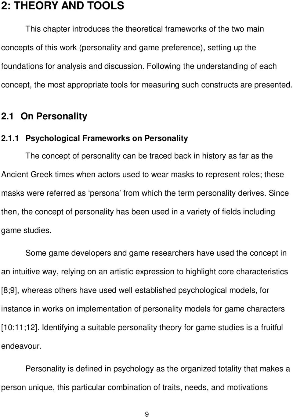 On Personality 2.1.