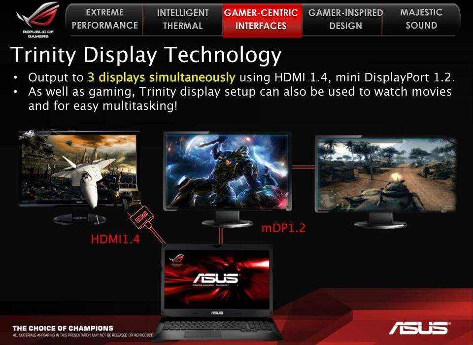 As well as gaming, Trinity display setup can also be