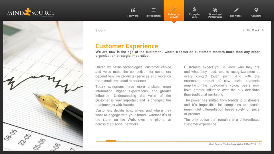 Today customers have more choices, more information, higher expectations, and greater influence.