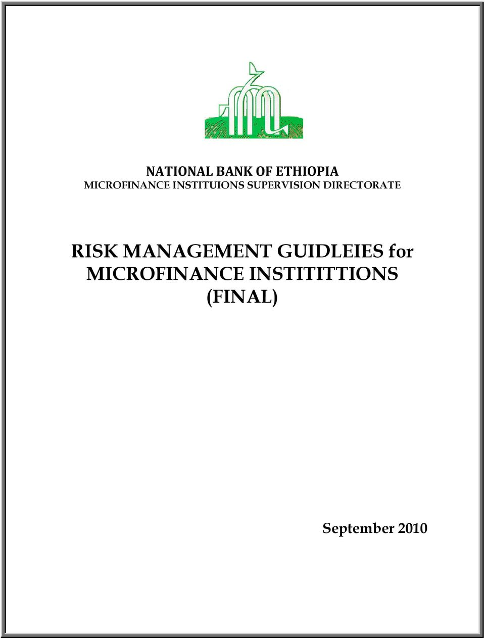 RISK MANAGEMENT GUIDLEIES for