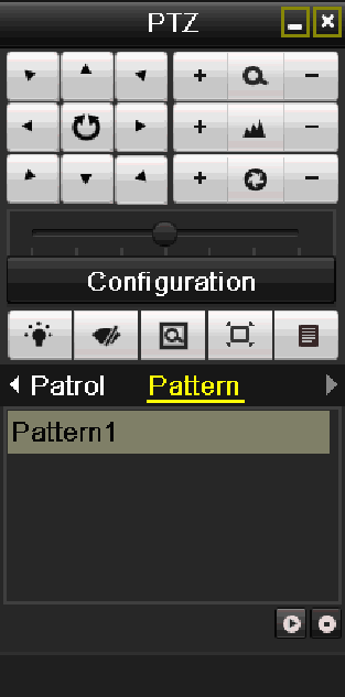4.2.2 PTZ Control Panel In the Live View mode, you can press the PTZ Control button on the IR remote control, or choose the PTZ Control icon to enter the