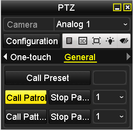 1. Click the button in the lower-right corner of the PTZ setting interface; or press the PTZ button on the front panel; or click the PTZ Control icon in the quick setting toolbar during the live view