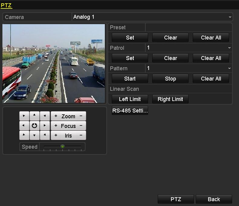 2 Configuring Linear Scan Customizing Linear Scan Purpose: Two limit points can be set for the view of the PTZ camera,