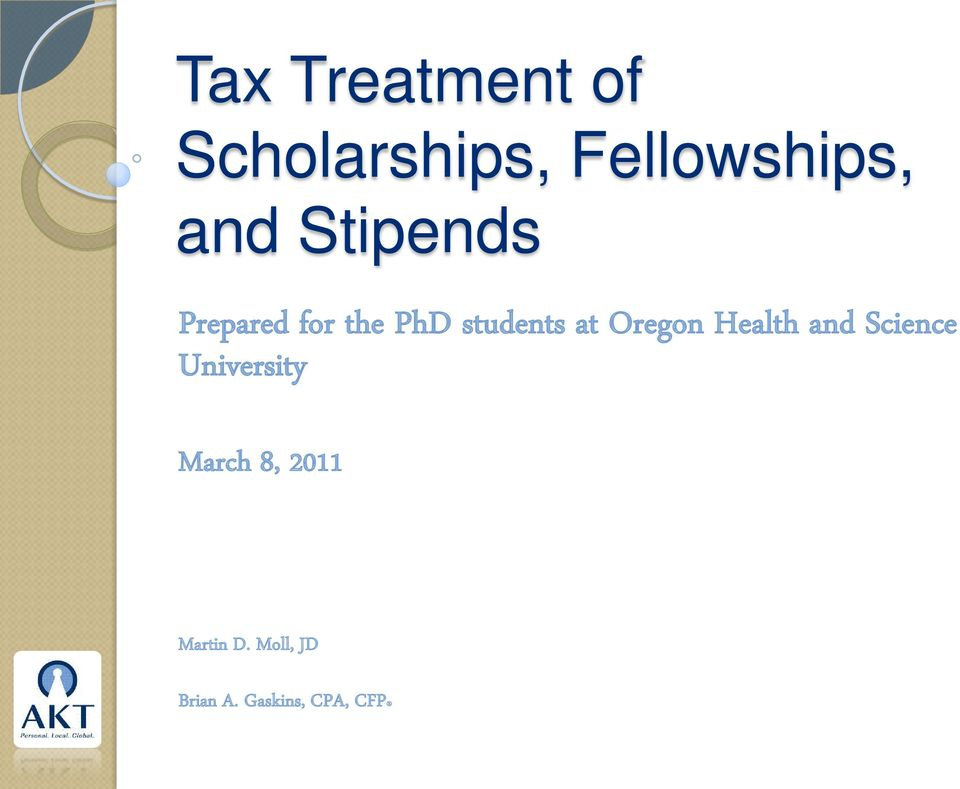 Oregon Health and Science University March 8,