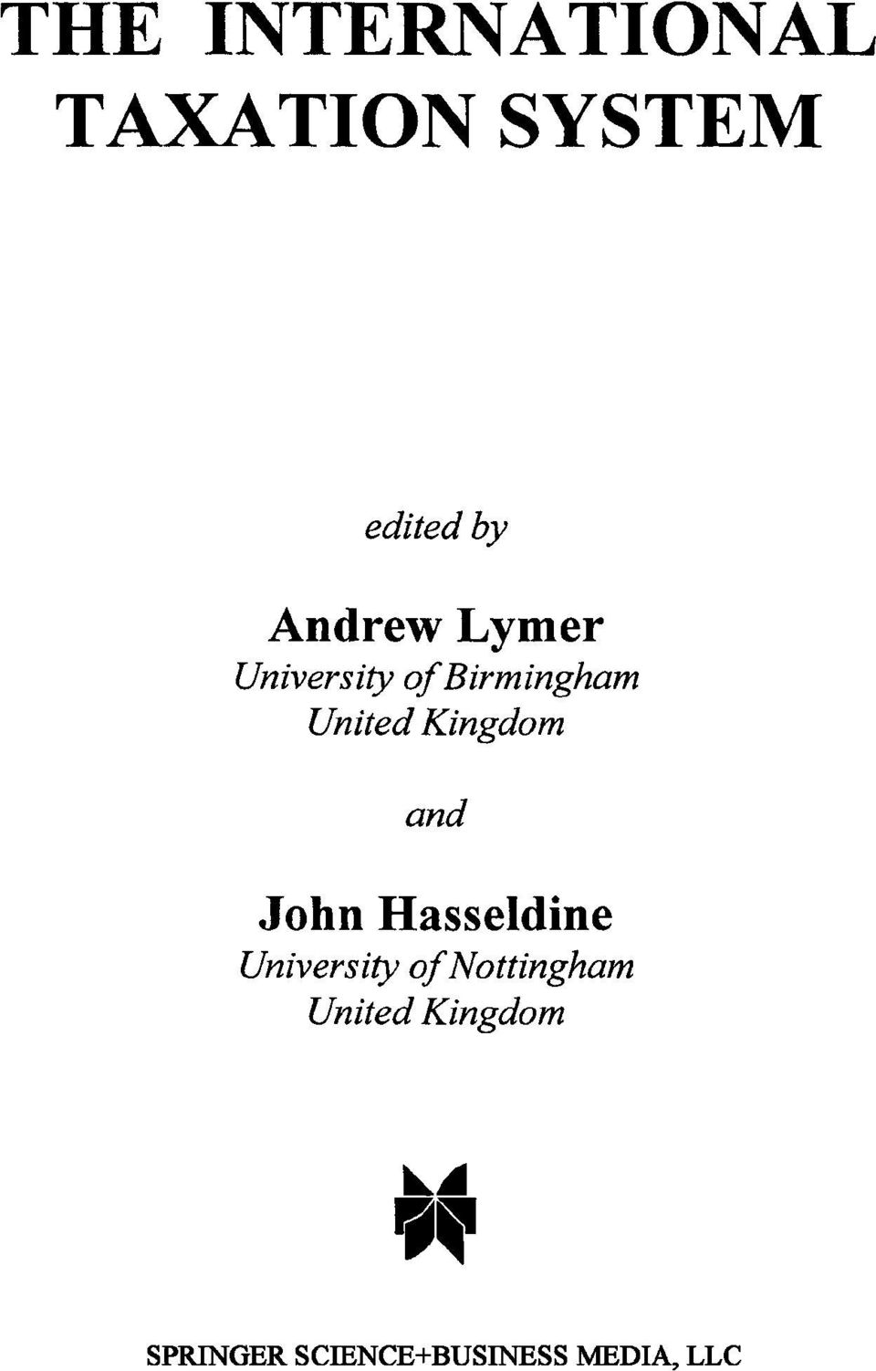 Kingdom and John Hasseldine University of