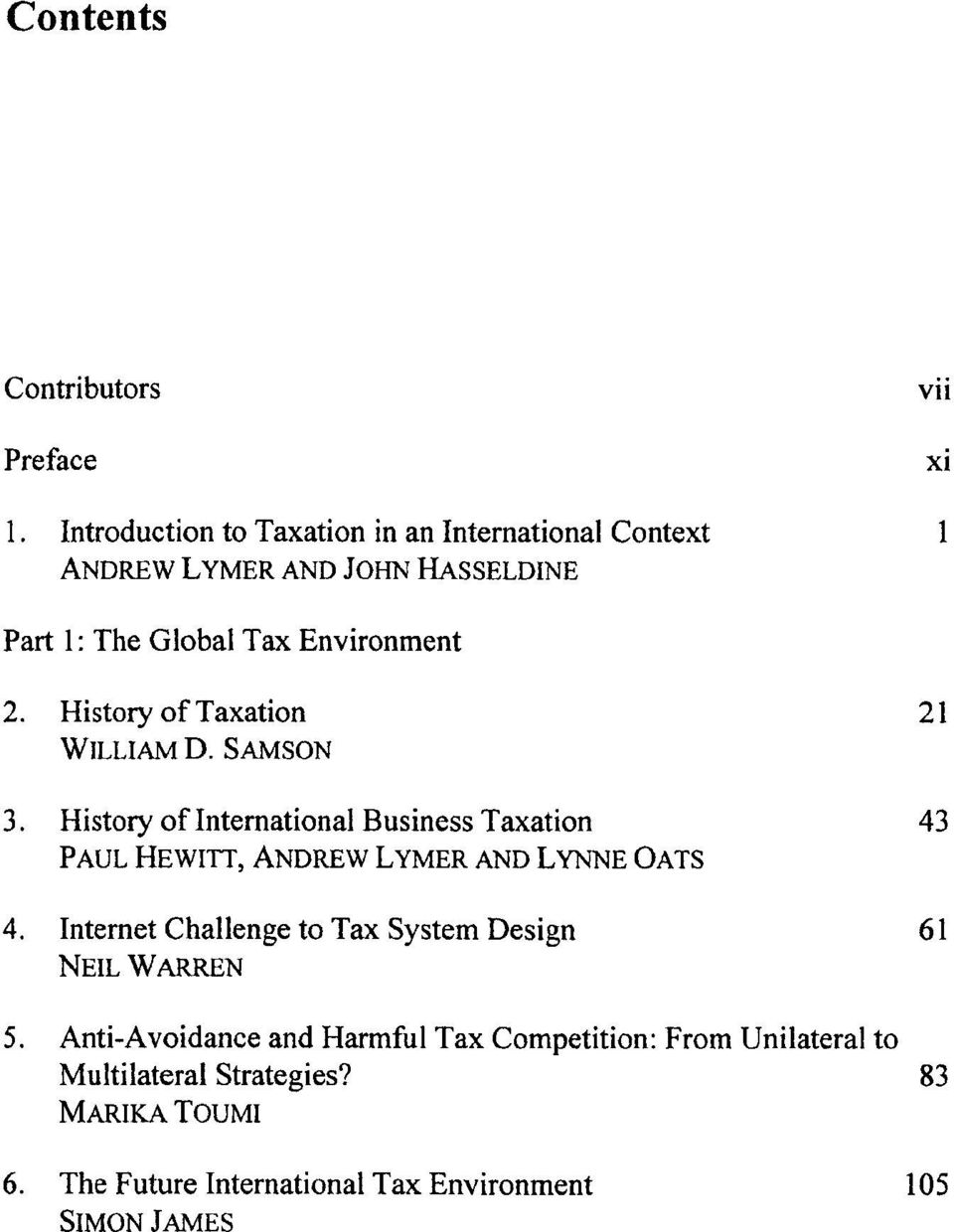 History of Taxation 21 WILLIAM D. SAMSON 3.
