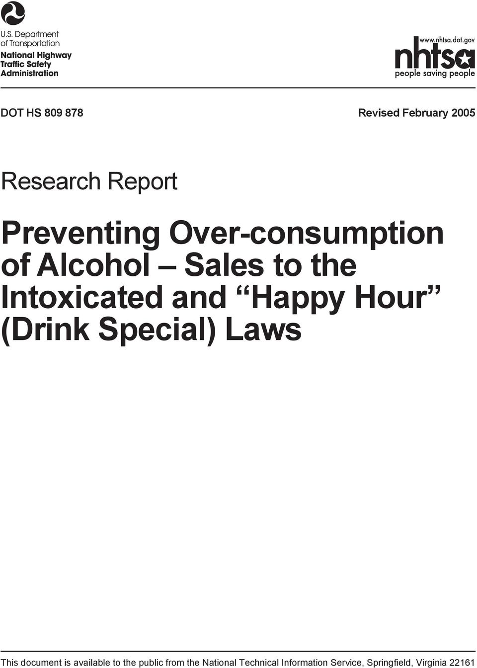 (Drink Special) Laws This document is available to the public from