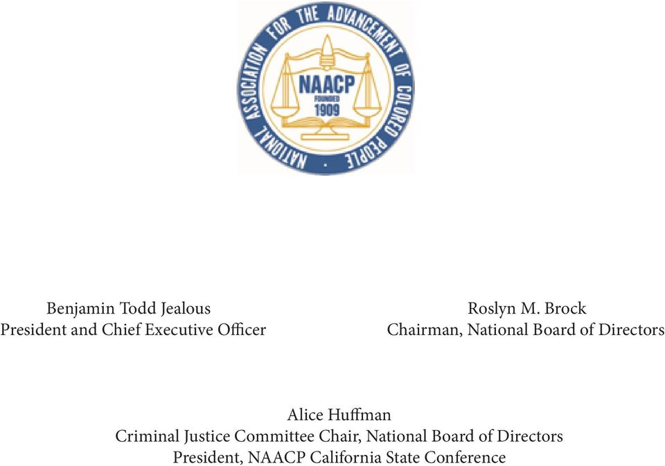 National Board of Directors Alice Huffman Criminal Justice