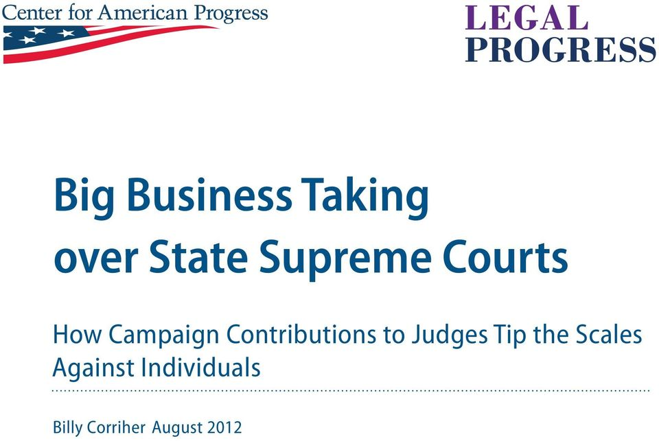 Contributions to Judges Tip the