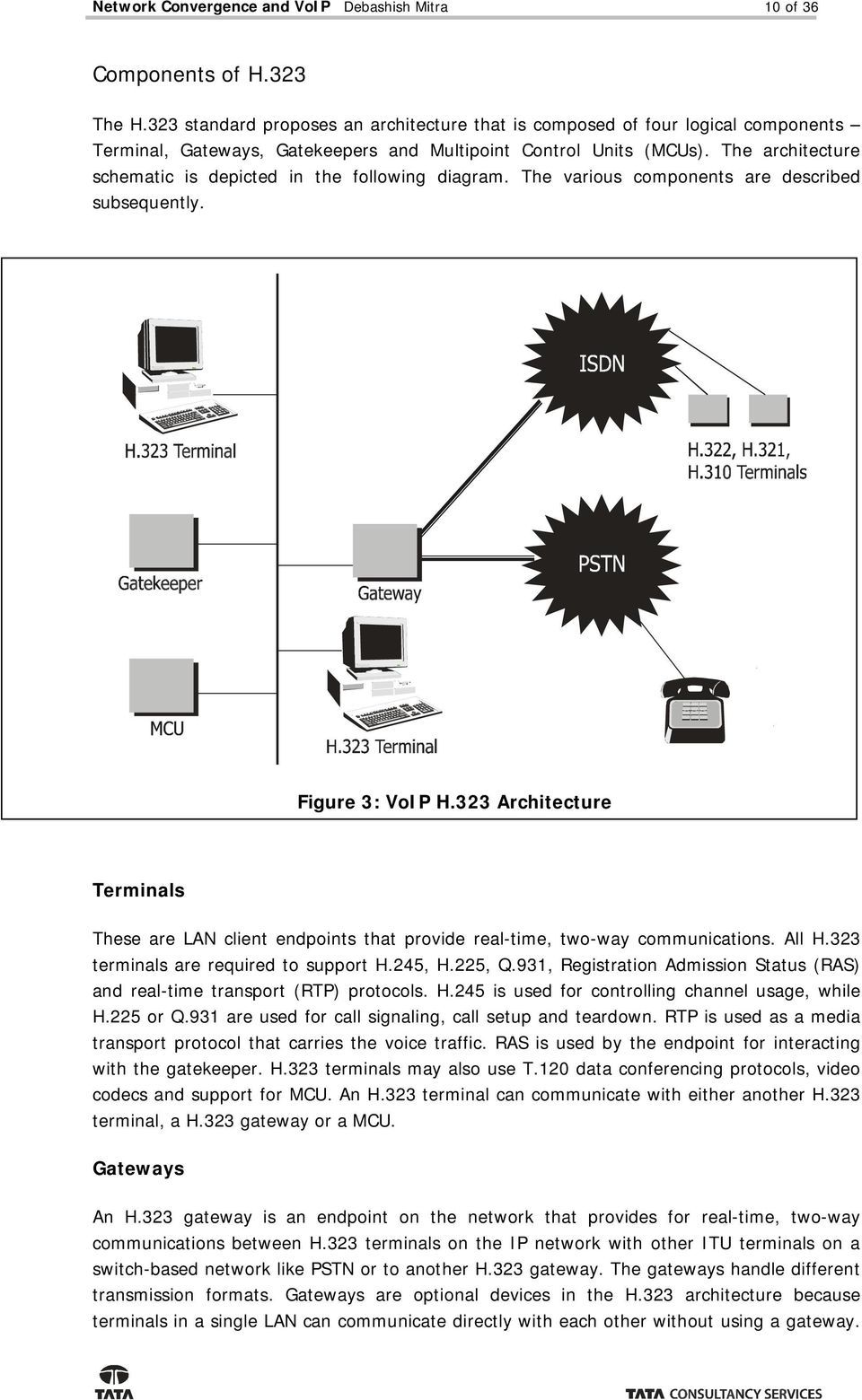 The architecture schematic is depicted in the following diagram. The various components are described subsequently. Figure 3: VoIP H.