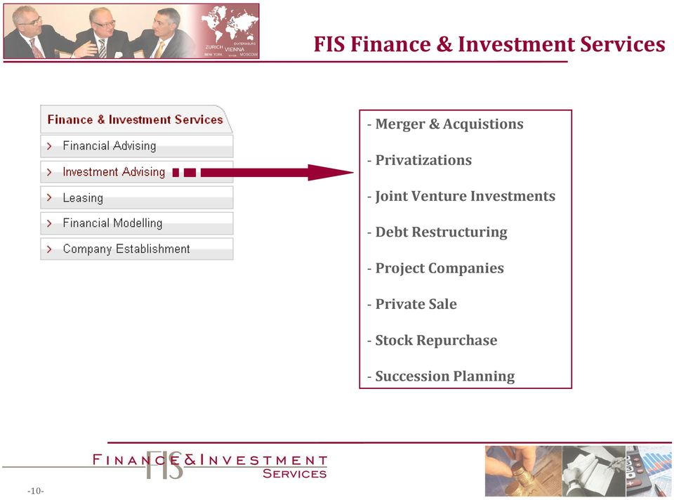 Investments - Debt Restructuring - Project