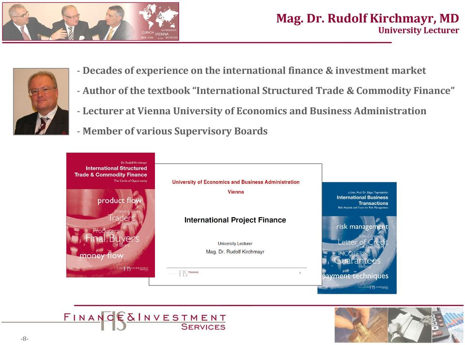 international finance & investment market - Author of the textbook