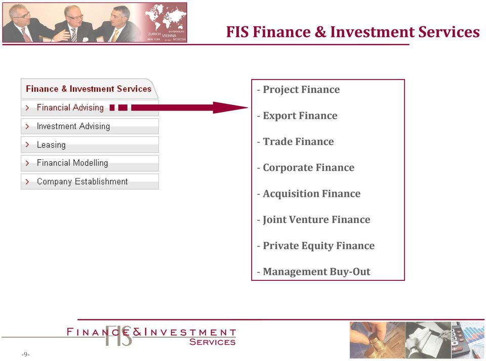 Corporate Finance - Acquisition Finance - Joint
