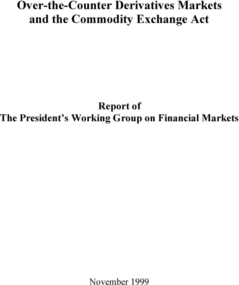 Act Report of The President s