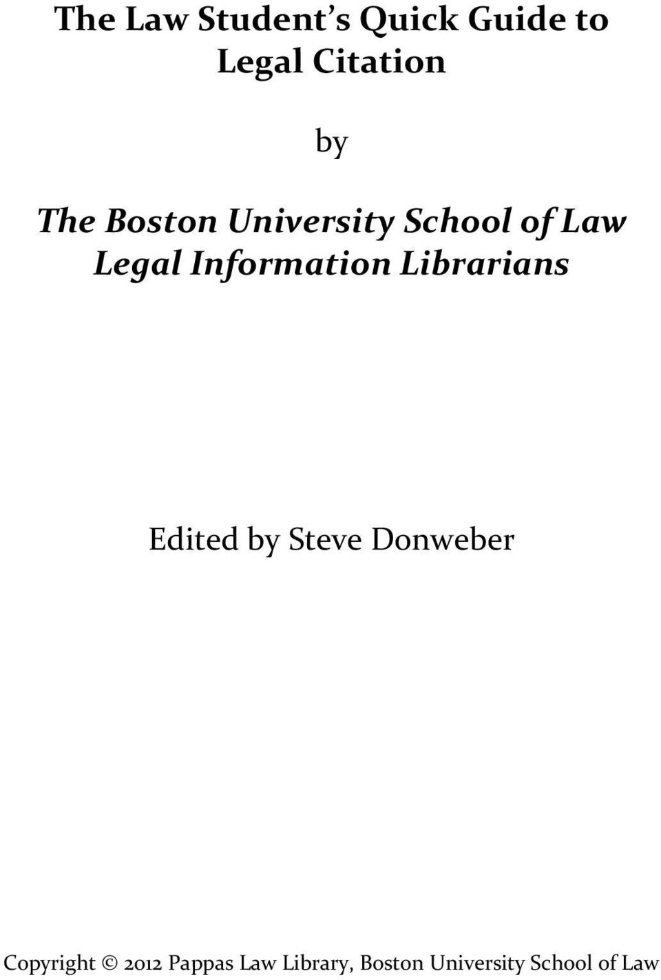 Information Librarians Edited by Steve Donweber