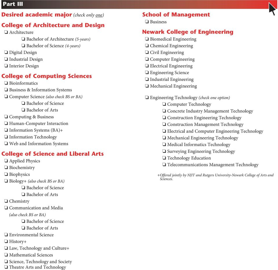 Application for Transfer and Readmission to Undergraduate Admission