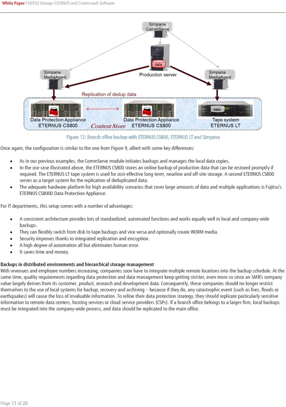 White Paper FUJITSU Storage ETERNUS and Commvault Software - PDF