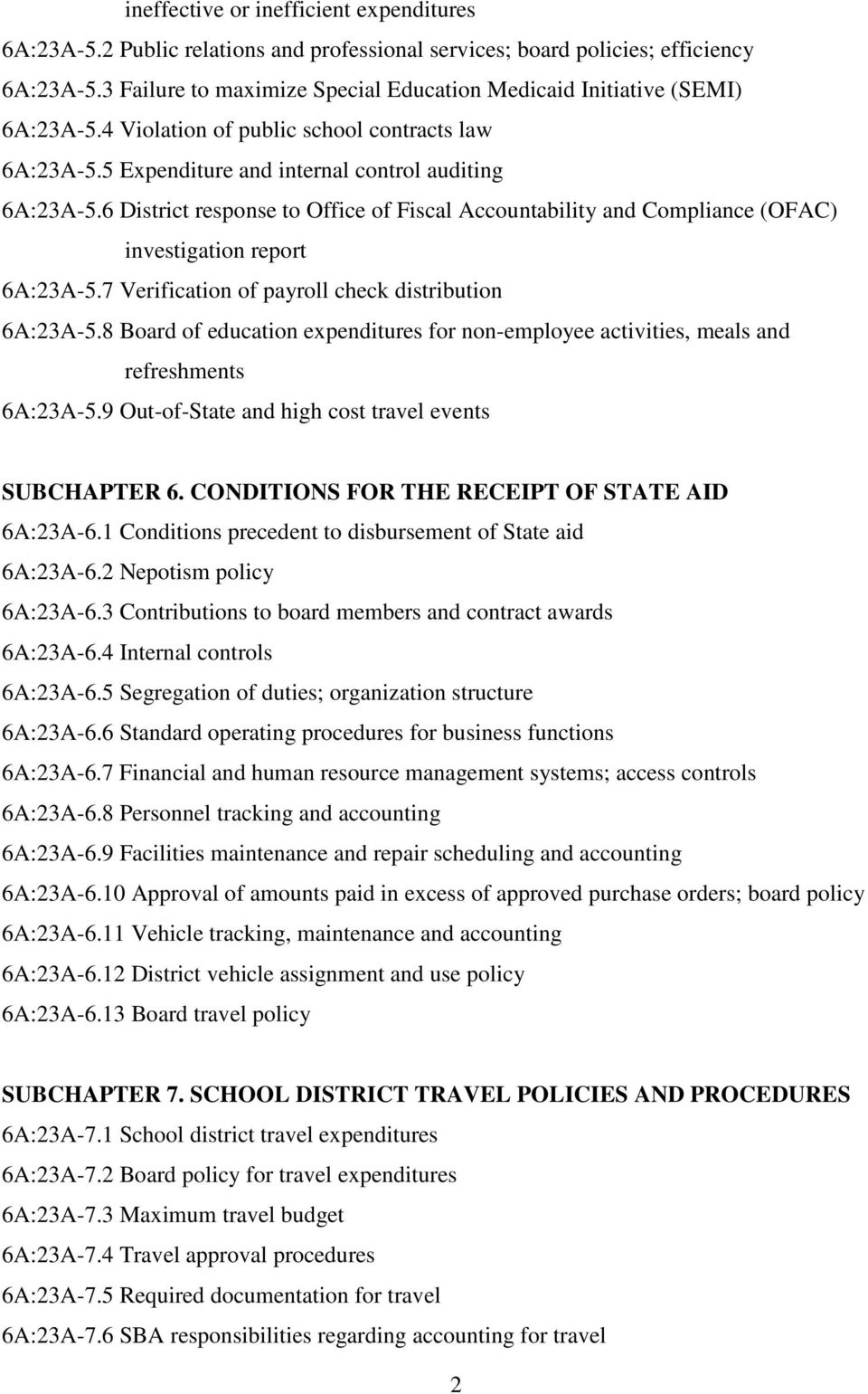 6 District response to Office of Fiscal Accountability and Compliance (OFAC) investigation report 6A:23A-5.7 Verification of payroll check distribution 6A:23A-5.