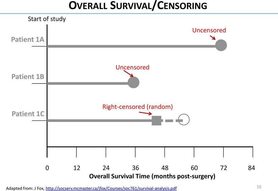 48 60 72 84 Overall Survival Time (months post-surgery) Adapted from: