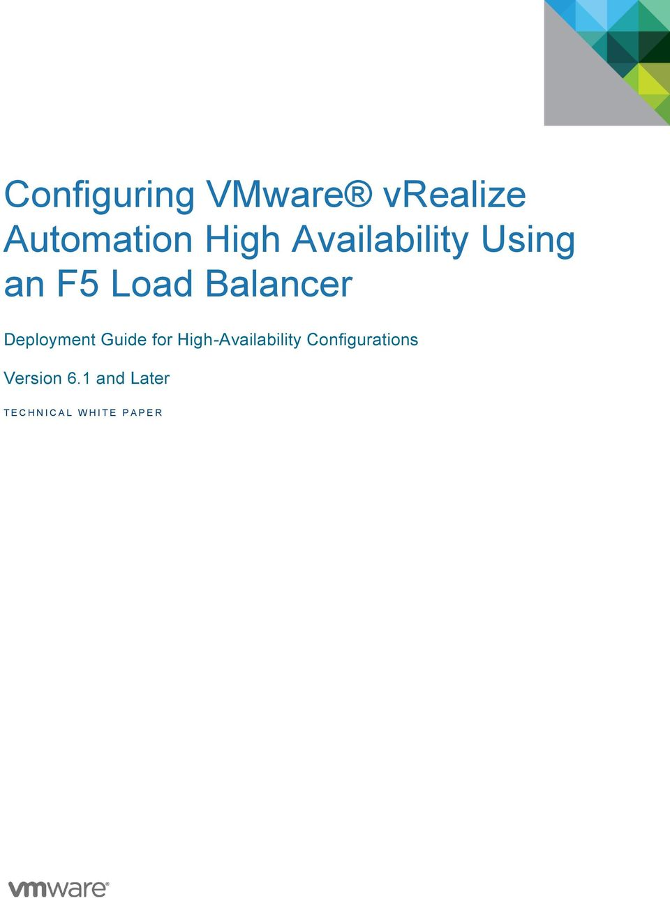 Deployment Guide for High-Availability