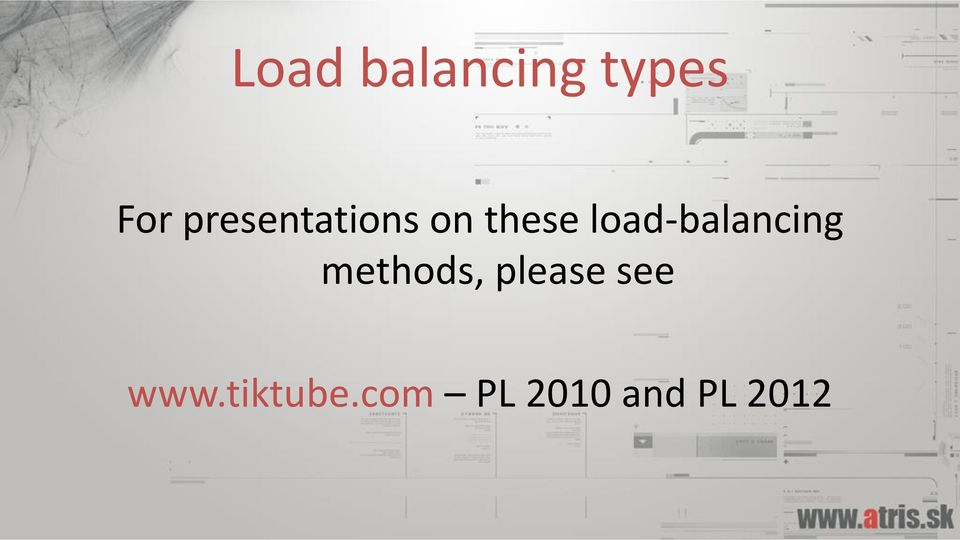 load-balancing methods,