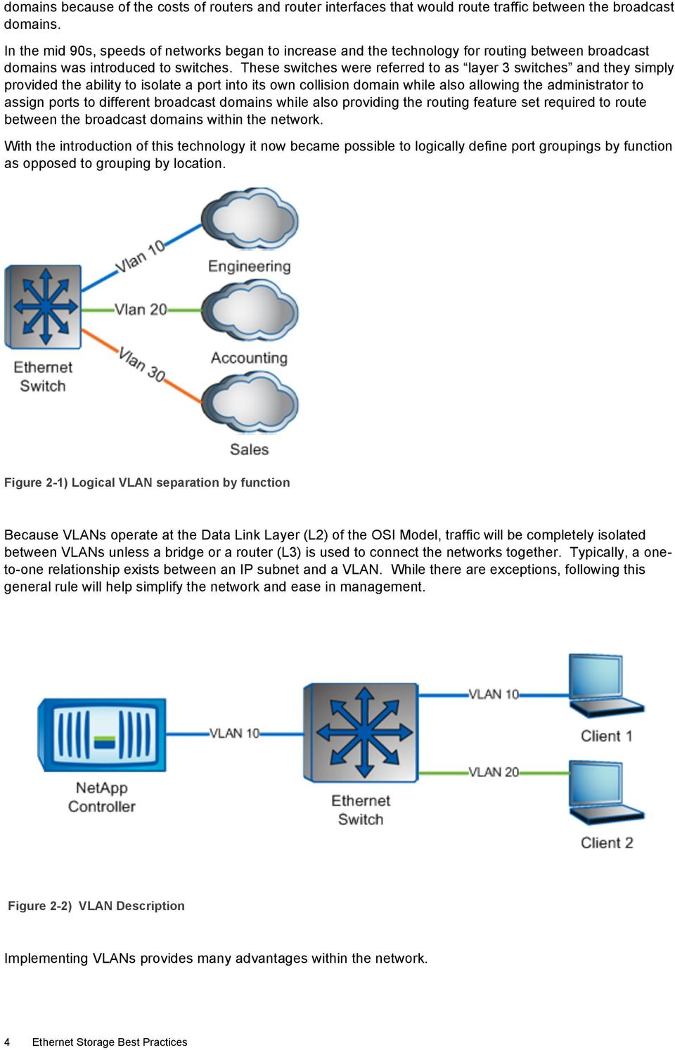 These switches were referred to as layer 3 switches and they simply provided the ability to isolate a port into its own collision domain while also allowing the administrator to assign ports to