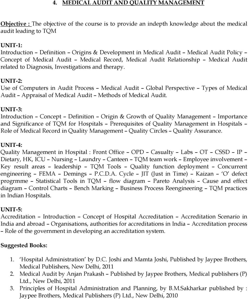 Use of Computers in Audit Process Medical Audit Global Perspective Types of Medical Audit Appraisal of Medical Audit Methods of Medical Audit.