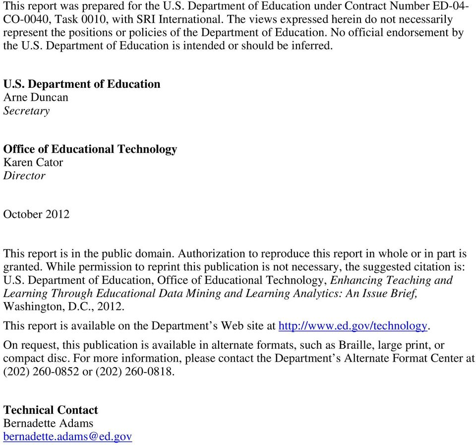 Department of Education is intended or should be inferred. U.S.