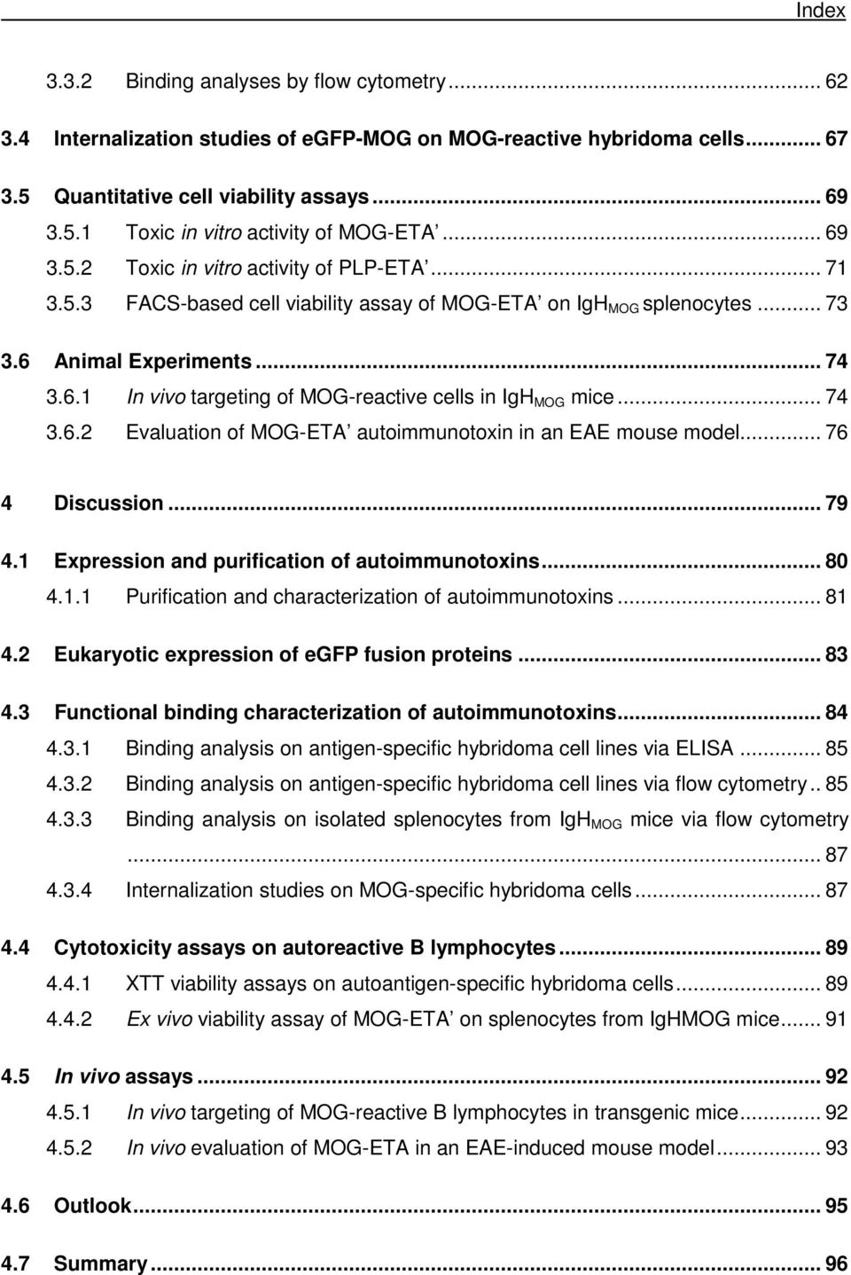.. 74 3.6.2 Evaluation of MOG-ETA autoimmunotoxin in an EAE mouse model... 76 4 Discussion... 79 4.1 Expression and purification of autoimmunotoxins... 80 4.1.1 Purification and characterization of autoimmunotoxins.