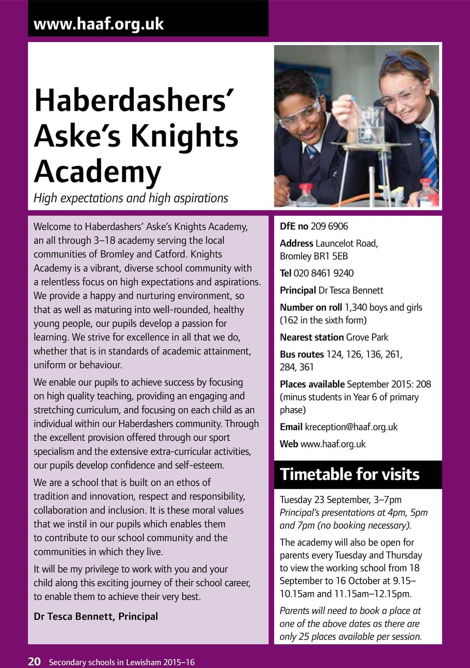 Catford. Knights Academy is a vibrant, diverse school community with a relentless focus on high expectations and aspirations.