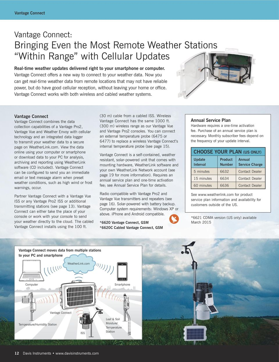 Now you can get real-time weather data from remote locations that may not have reliable power, but do have good cellular reception, without leaving your home or office.