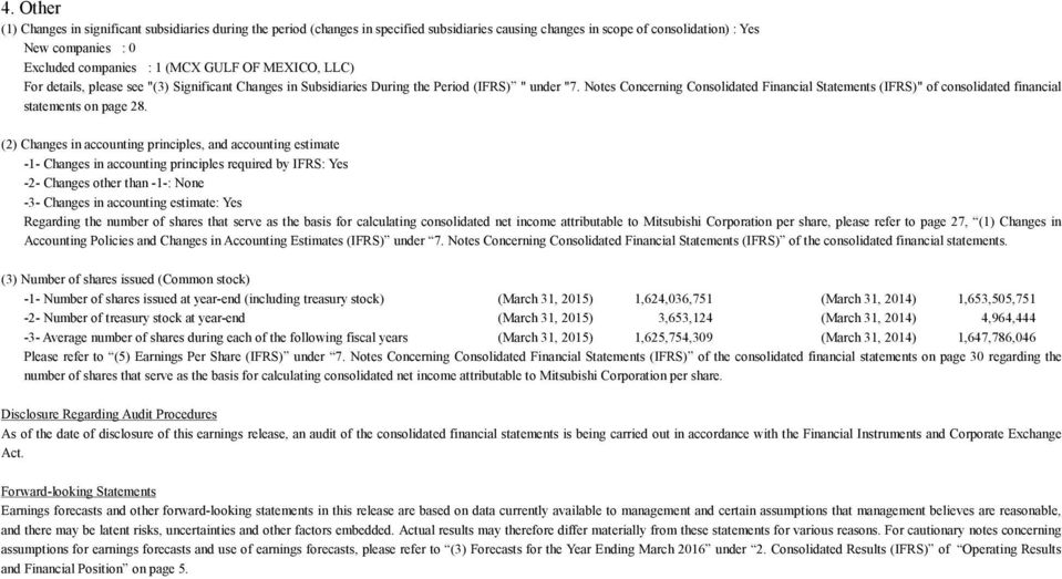 "Notes Concerning Consolidated Financial Statements (IFRS)"" of consolidated financial statements on page 28."