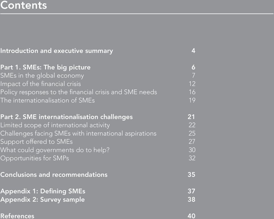 The internationalisation of SMEs 19 Part 2.
