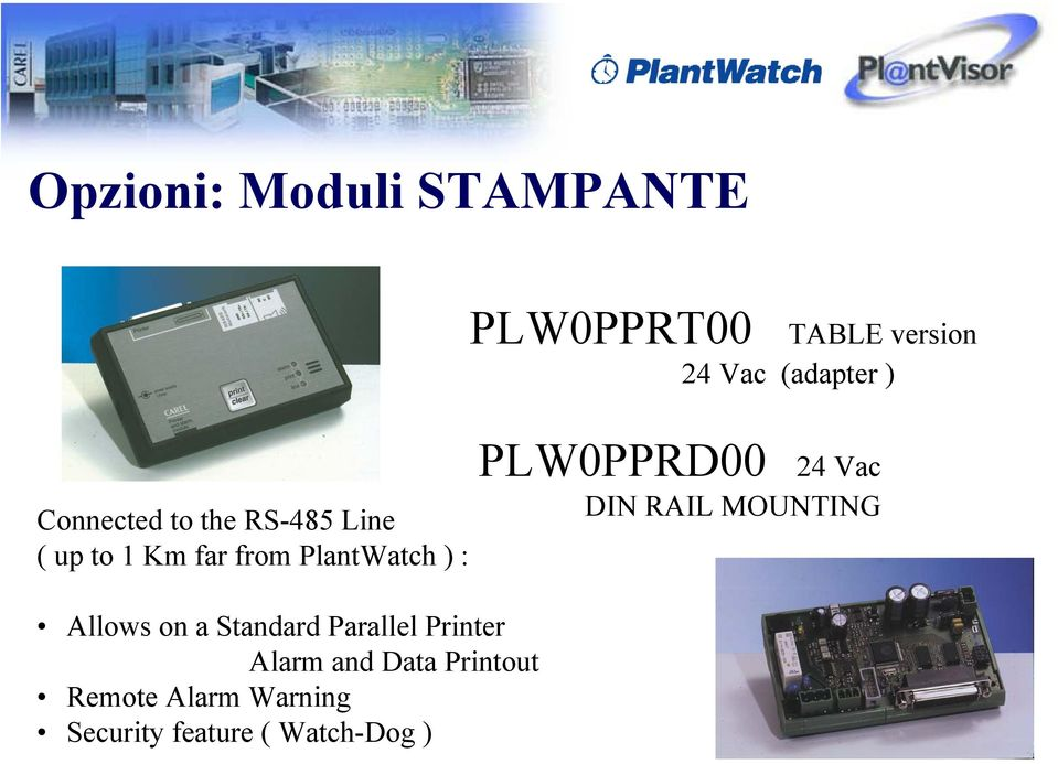 PLW0PPRD00 24 Vac DIN RAIL MOUNTING Allows on a Standard Parallel