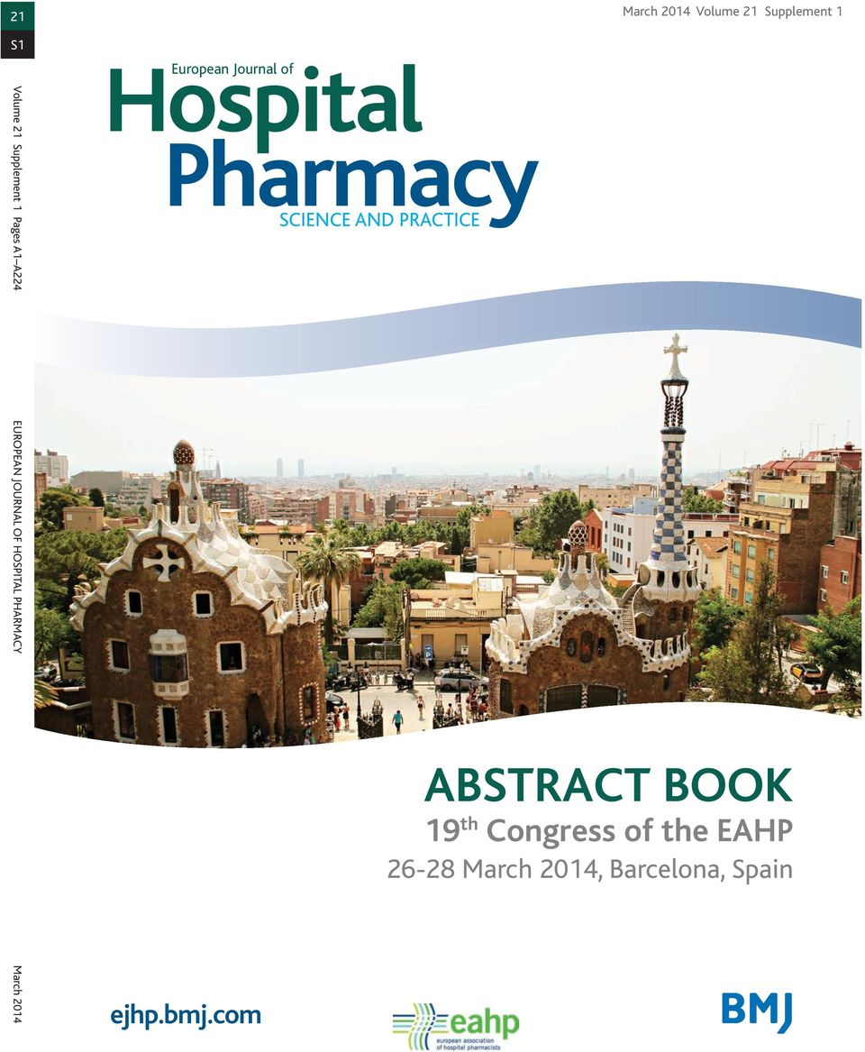 EUROPEAN JOURNAL OF HOSPITAL PHARMACY March 2014 ejhp.bmj.