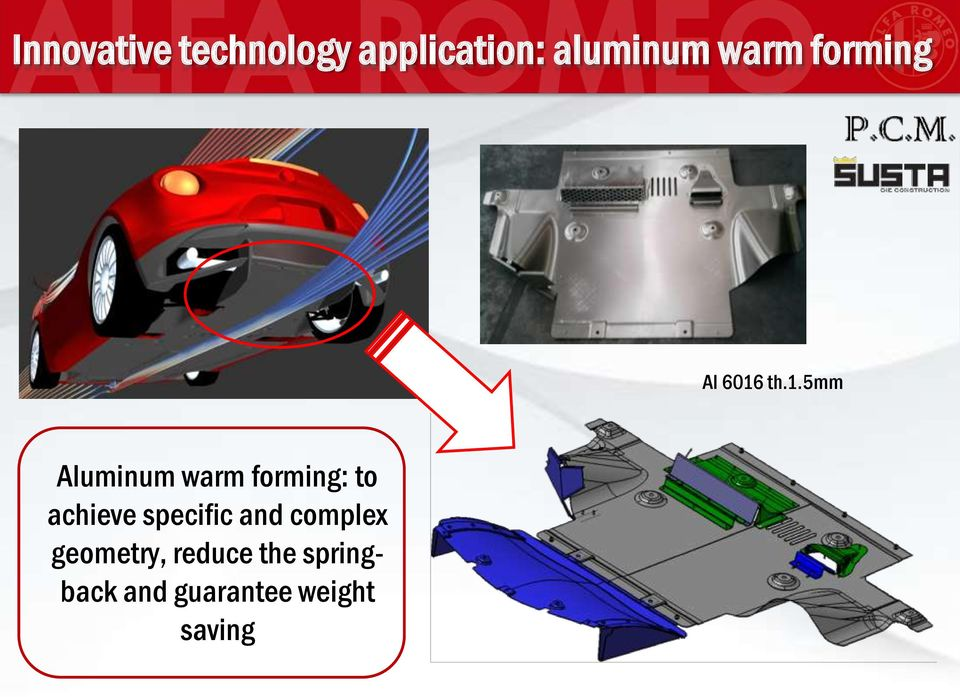 th.1.5mm Aluminum warm forming: to achieve