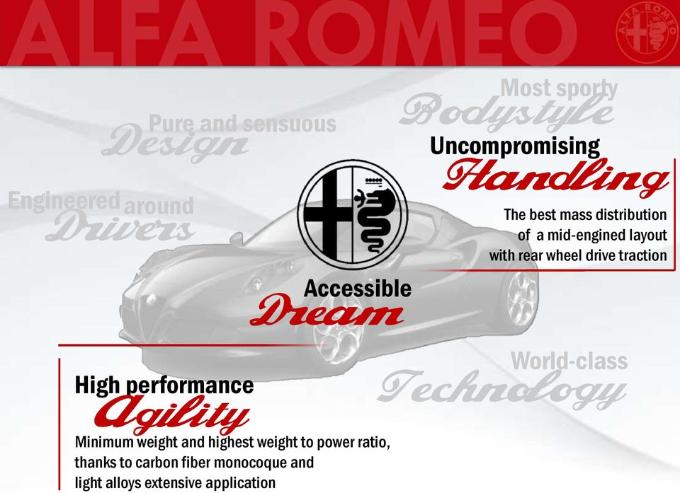 drive traction World-class High performance Technology Agility Minimum weight and highest
