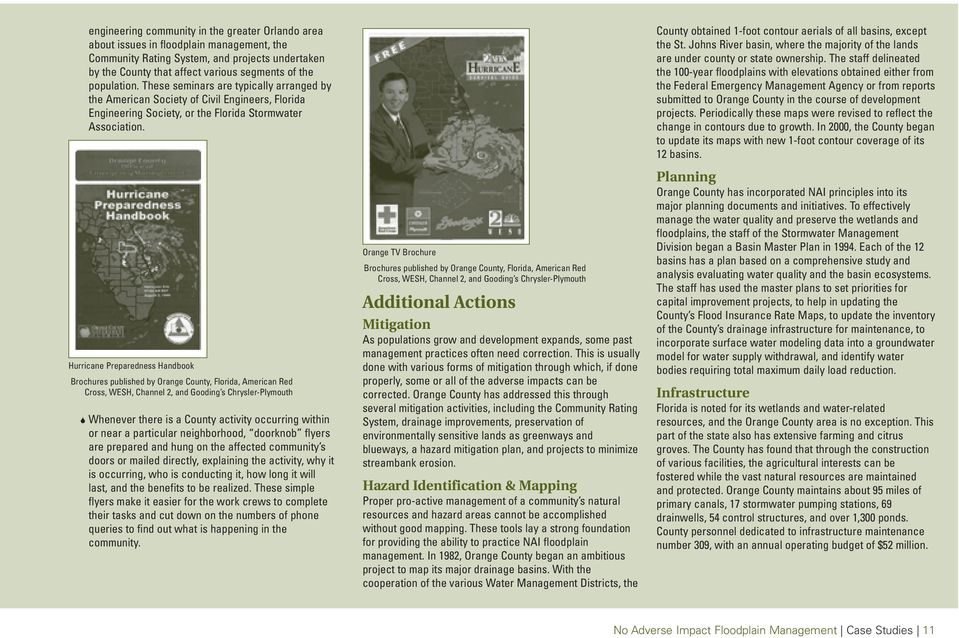 Hurricane Preparedness Handbook Brochures published by Orange County, Florida, American Red Cross, WESH, Channel 2, and Gooding s Chrysler-Plymouth Whenever there is a County activity occurring