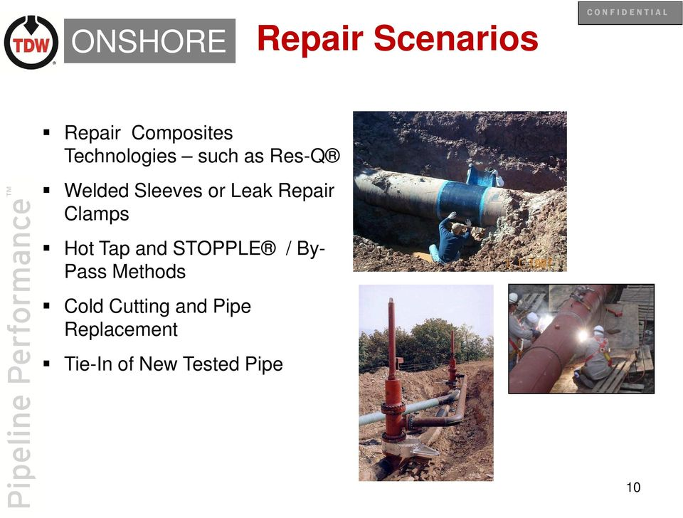 Repair Clamps Hot Tap and STOPPLE / By- Pass