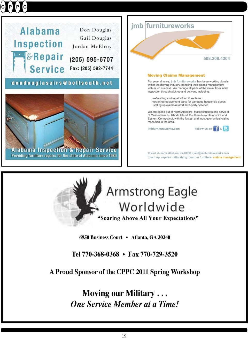770-729-3520 A Proud Sponsor of the CPPC 2011 Spring Workshop A Proud Sponsor of the