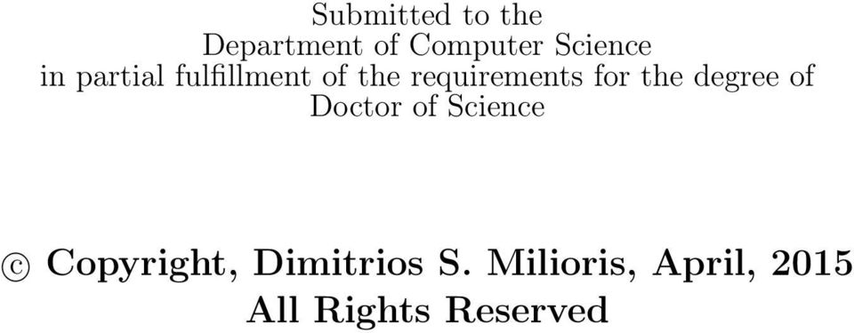 the degree of Doctor of Science c Copyright,