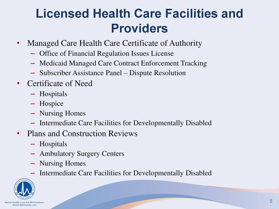 Resolution Certificate of Need Hospitals Hospice Nursing Homes Intermediate Care Facilities for Developmentally Disabled