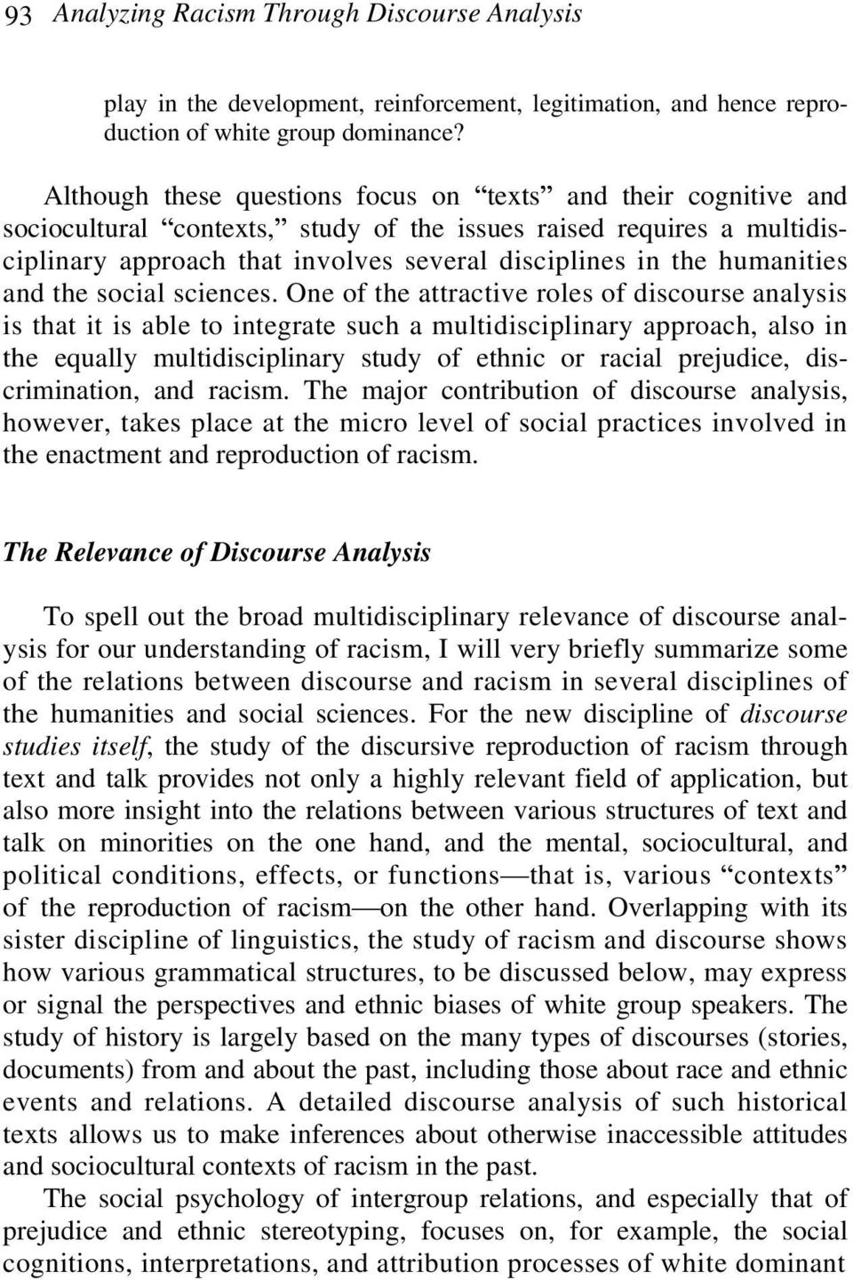 humanities and the social sciences.