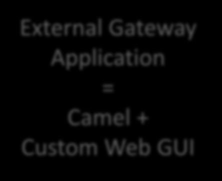 Customer Case Camel as a gateway application Running inside customers WebSphere (Java EE) servers Maps well into the customers custom Java EE Framework Hooks into the WebSphere managed thead pool