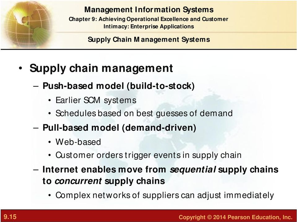 orders trigger events in supply chain Internet enables move from sequential supply chains to concurrent