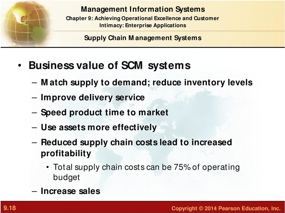 more effectively Reduced supply chain costs lead to increased profitability Total supply