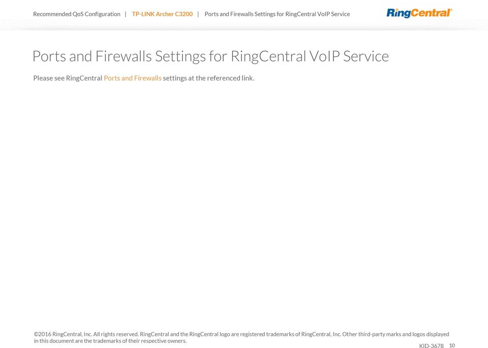 2016 RingCentral, Inc. All rights reserved.