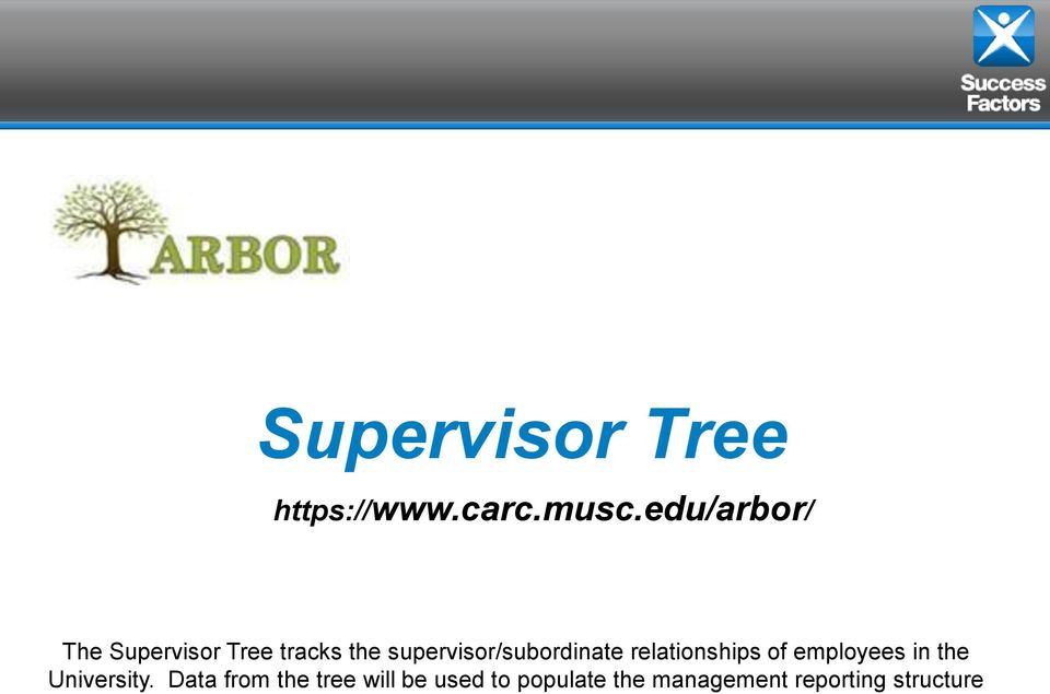 supervisor/subordinate relationships of employees in the