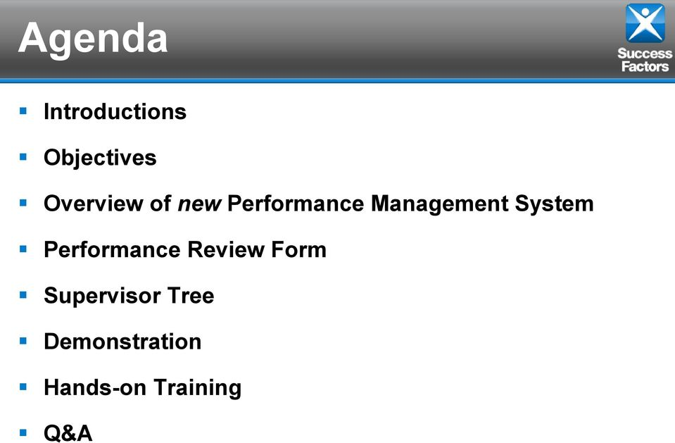 System Performance Review Form