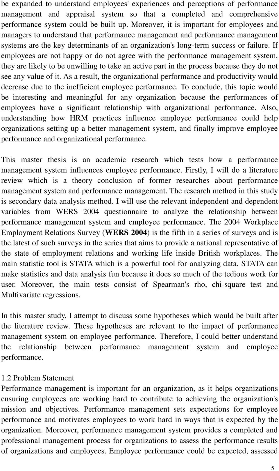 thesis performance management